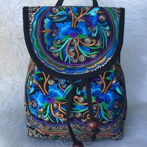 Handmade Embroidered Shoulder Bag Cross-body Bag
